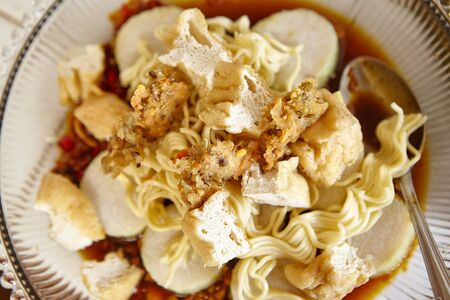 Lontong mie in indonesian for its famous traditional food or lontong mie in indonesian for its famous traditional food or in english maybe spelled rice forumfinder Images