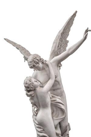 psyche: amor y psique estatua de m�rmol Foto de archivo