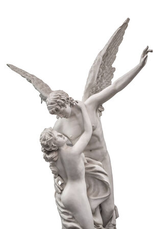 love and psyche marble statue photo