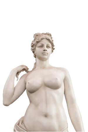 naked Female statue Decorative isolate photo
