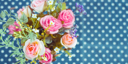 Retro -Vintage Bouquet of colorful flowers decoration ,unusual photo