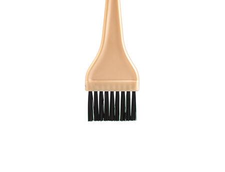 tinte de cabello: Cepillo del tinte de pelo aislado en blanco