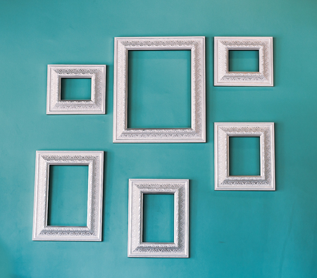 Picture frame , Photo art gallery on vintage wall photo