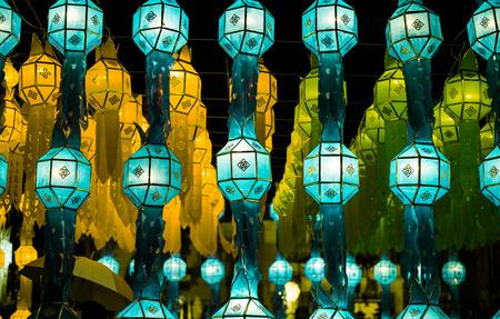 Northern Thai Style Lanterns at Loi Krathong (Yi Peng) Festival, Chiang Mai, Thailand photo