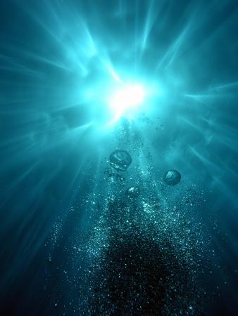 Onder water stralen in Rode Zee