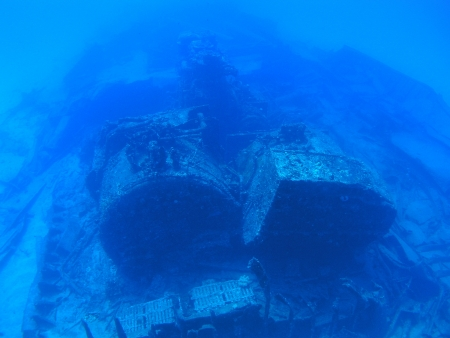 Wreck ships  in Rota        photo