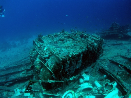Wreck ships with cargo of toilets in Red Sea          photo