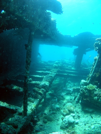 Wreck ships in Red Sea Stock Photo - 14622549