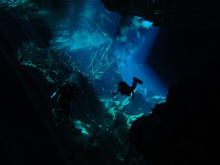Cenote in Cancun photo