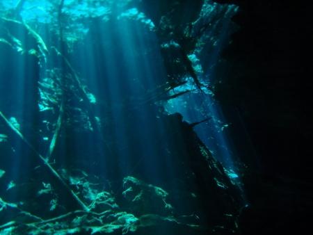 Cenote in Cancun photo