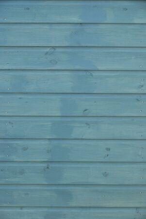 wooden hut: Blue wooden panelling