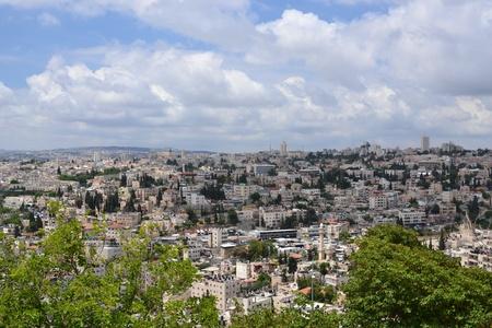bird 's eye view: A bird s-eye view of Jerusalem Stock Photo