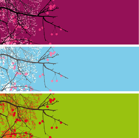 collection of backgrounds with a sprig of apple Stock Vector - 6778831