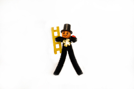 Chimney sweep on white background 写真素材