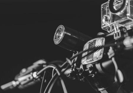 Bicycle steering wheel with lighting