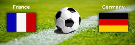 Soccer international match EM 2020/2021 - France versus Germany