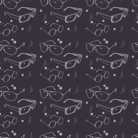 Hand painted glasses-Seamless texture