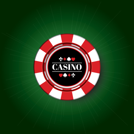 Casino Chip on the green background.