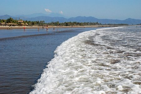 Beach in San Blas, Nayarit, Mexico, Pacific Ocean