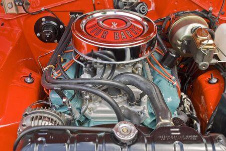 Clean V8 engine under the hood