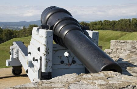 Old cannon from the 19th century at Fort Levis, Quebec, Canada Stok Fotoğraf - 5537030