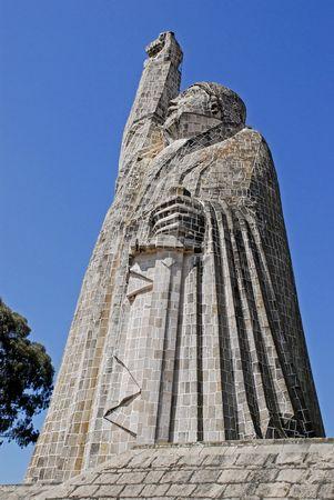 morelos: The Jose Marie Morelos monument on the Island Janitzio on Lake Patzcuaro, Michoacan, Mexico