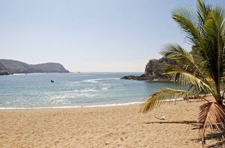 Tranquil Mexican Pacific Ocean cove in Careyes, state of Jalisco