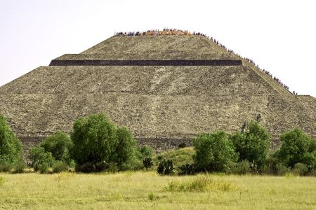 Pyramid of the Sun in Teotihuacan, Mexico photo