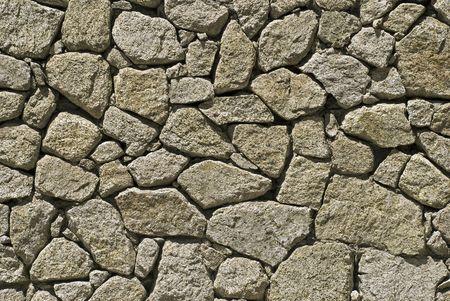 Retaining wall of irregular shaped stones