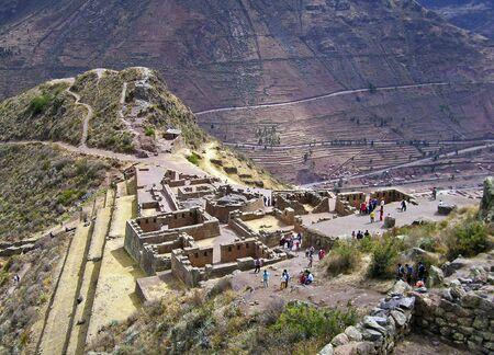 urubamba valley: Inca ruins in Pisac, Urubamba valley, Peruvian Andes
