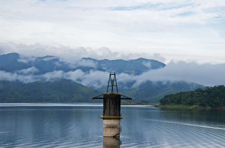 Lake Arenal with mountains in Costa Rica Stock Photo
