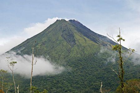 Active volcano Arenal in La Fortuna, Costa Rica Stock Photo