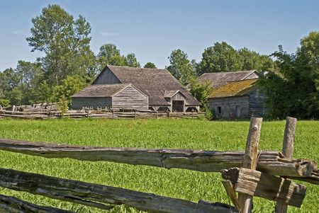 19th century old farm in Upper Canada Village, Eastern Canada Stock Photo