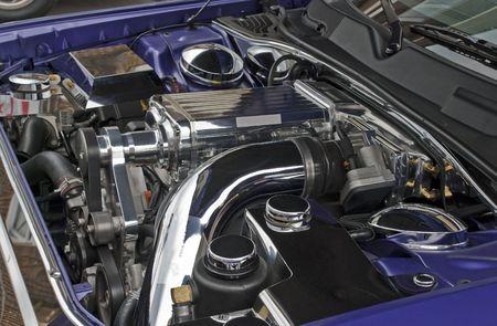 최신 슈퍼 차지의 고성능 V8 엔진 스톡 콘텐츠