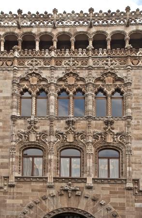 Partial facade of the Palacio de Correos in Mexico City