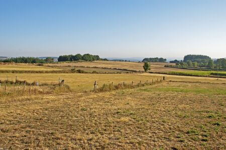 Agricultural field in Castromaior, Galicia, Spain