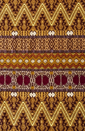 guatemalan: Mix of color and geometric patterns on a hand woven Guatemalan tapestry