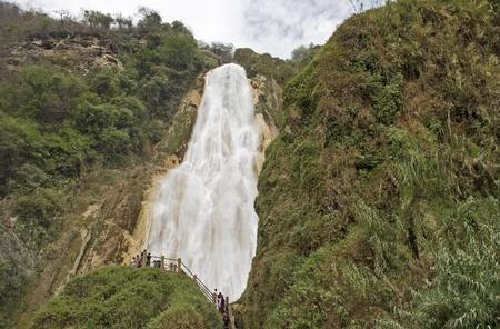 Mighty waterfall El Chiflon in Chiapas, Mexico 版權商用圖片