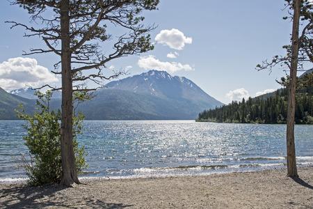 Scenic lake in the Tutshi lake region, Yukon Territory, Canada