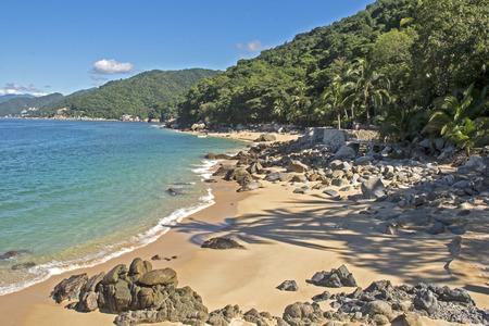 Banderas Bay Pacific Ocean coast. South of Puerto Vallarta Stock Photo