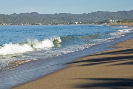 pacific ocean: Mexican Pacific Ocean beach near Barra de Navidad