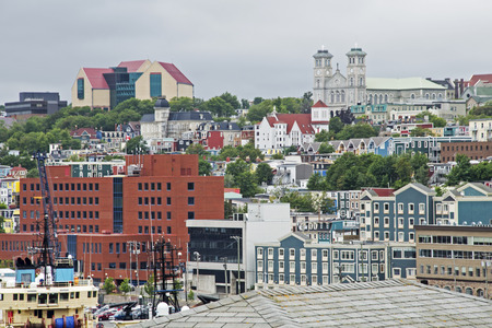 newfoundland: Partial view of St Johns in Newfoundland, Canada