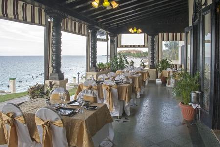 xanadu: Xanadu, a classic restaurant layout by the ocean in Varadero, Cuba