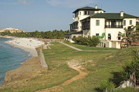 xanadu: Historic mansion Xanadu with beach in Varadero, Cuba Editorial