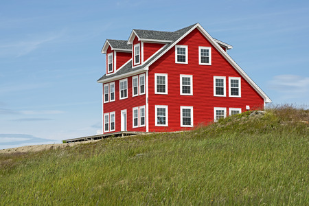 dwelling: New salt box style house in English Harbour, Newfoundland, Canada