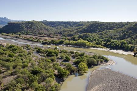 Fuerte River Delta in the Sierra Madre Occidental, Sinaloa, Mexico 免版税图像 - 52102602