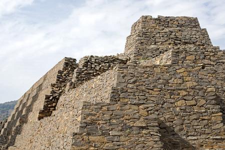 Pre Columbian stone structure in Tzintzuntzan, Michoacan, Mexico