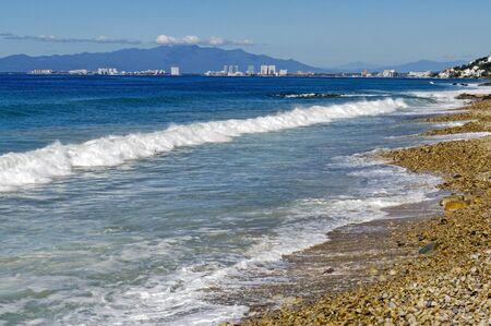 pacific ocean: Pacific Ocean surf by Puerto Vallarta, Banderas Bay, Mexico
