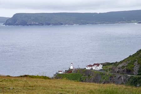 Lighthouse by the Atlantic Ocean, St. Johns, Newfoundland