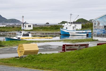 newfoundland: Small boat harbor by Ferryland, Newfoundland, Canada
